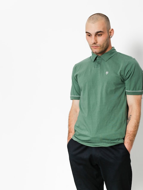 Brixton Polo t-shirt Carlos (washed chive)