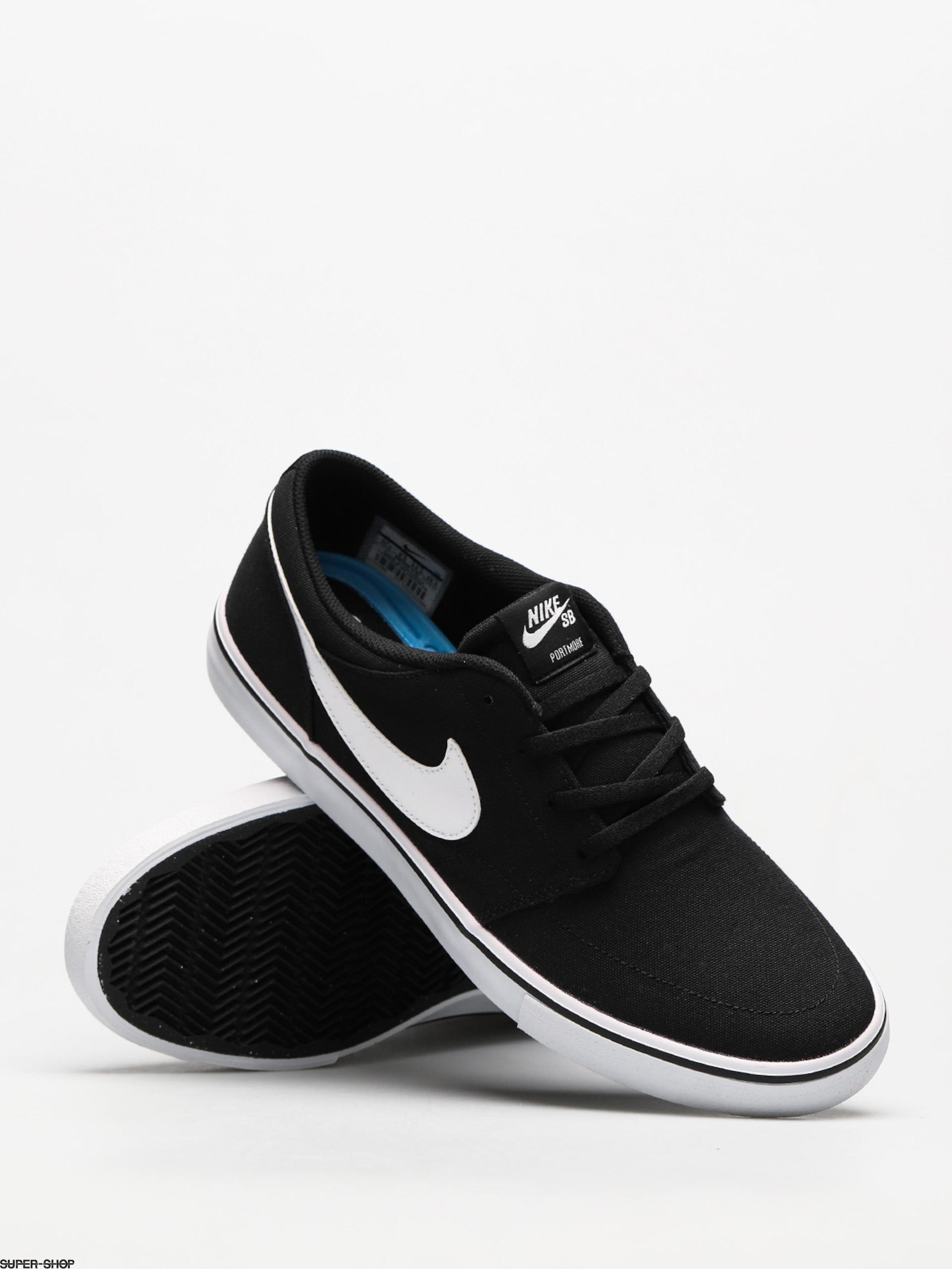 738b35b129a1 Nike SB Shoes Sb Solarsoft Portmore II Canvas (black white)