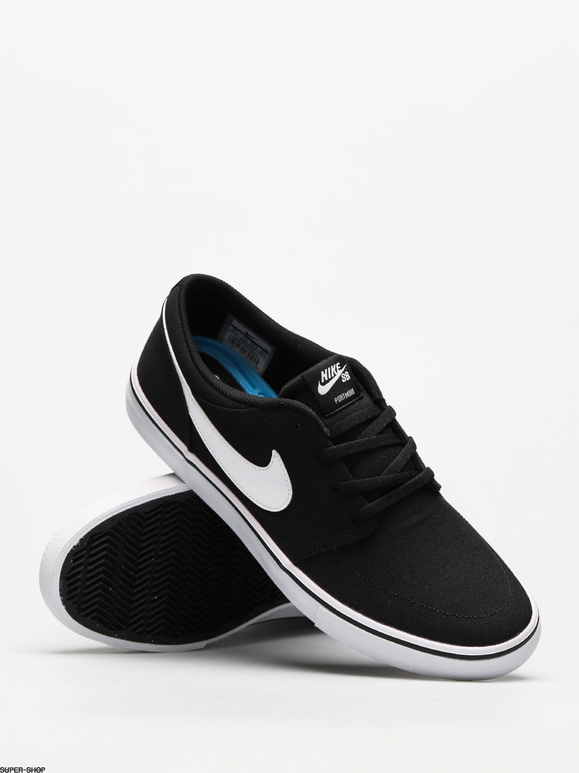 7fe586e33f689 Nike SB Shoes Sb Solarsoft Portmore II Canvas (black/white)