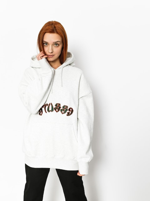 Stussy Hoody Lennox Oversized HD Wmn (white heather)
