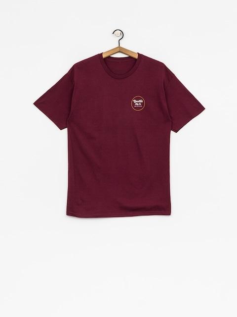 Brixton T-Shirt Wheeler II Stnd (burgundy/gold)