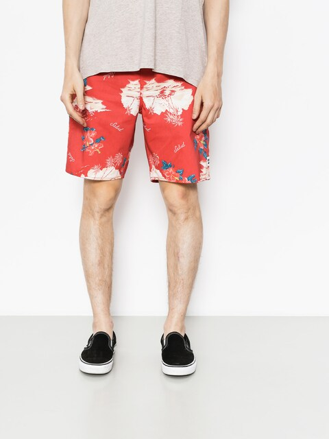 Brixton Shorts Boardshorty Barge Trunk (red/cream)