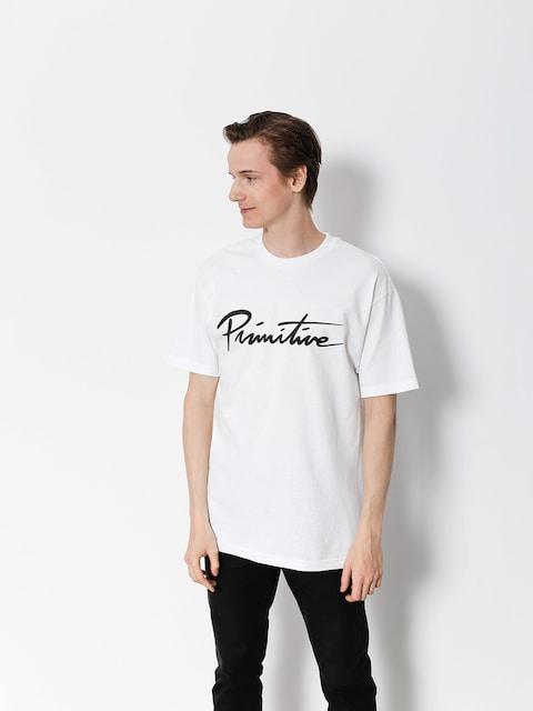 Primitive T-shirt Nuevo Script Core (white)