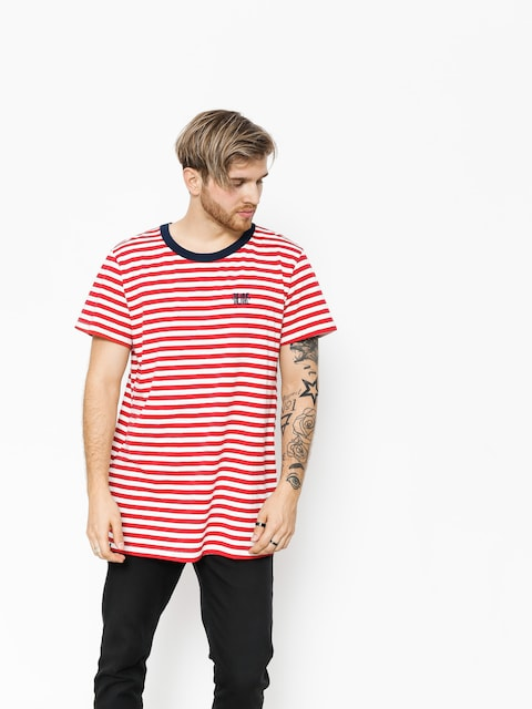 The Hive T-shirt Stripes Logo (navy/red/white)