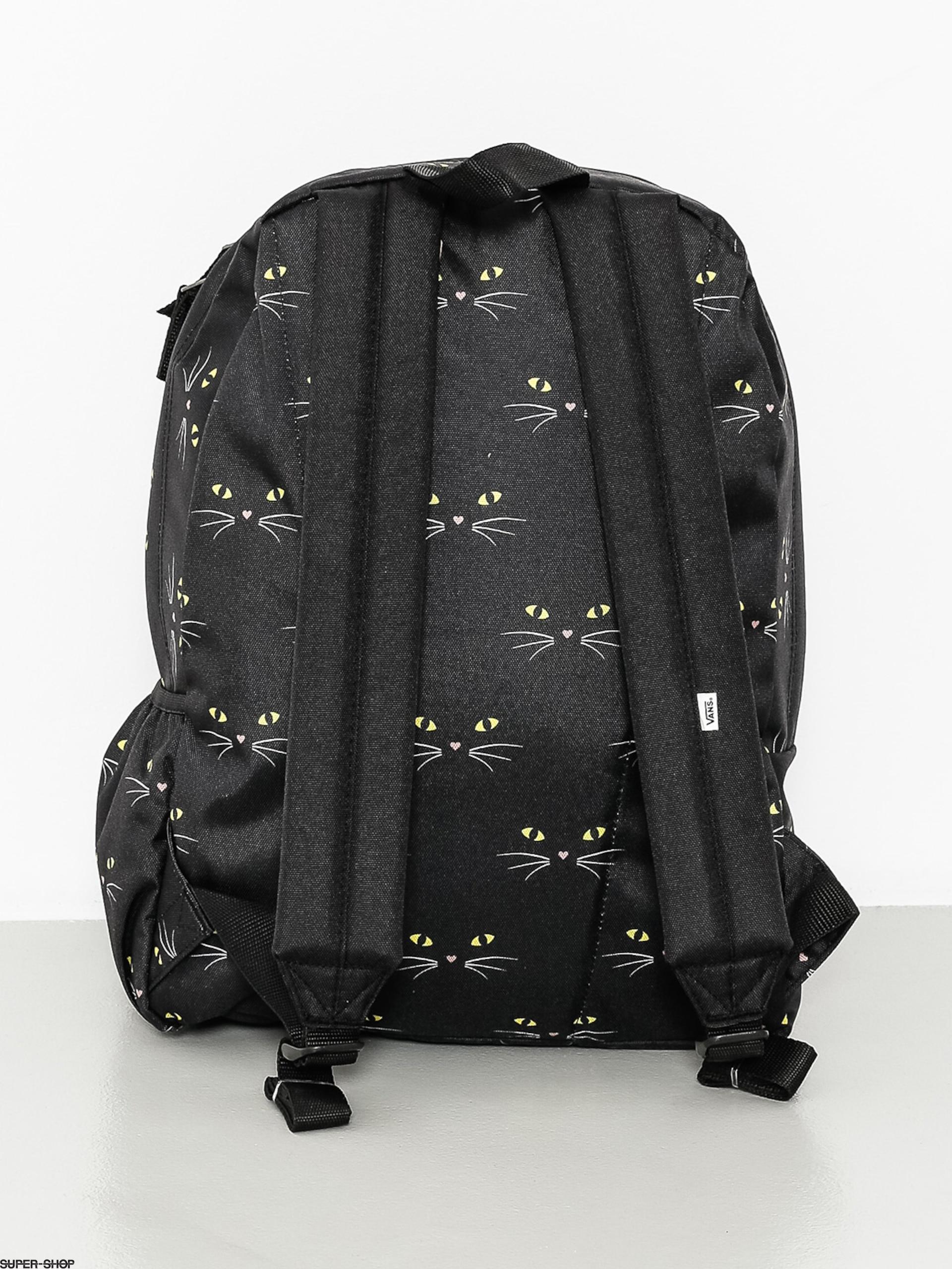 793e4630 Vans Backpack Realm Flying V Wmn (black/cat)