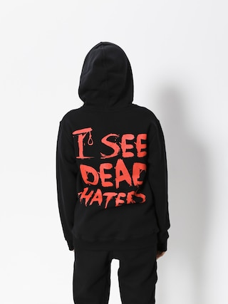 Diamante Wear Hoodie I See Dead Haters HD (black/red)