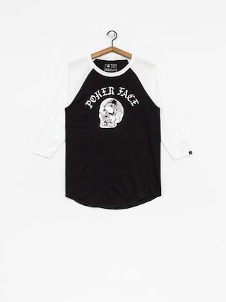 Emerica T-Shirt Poker Face Raglan (white/black)