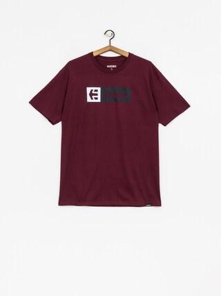 Etnies T-Shirt New Box (burgundy)