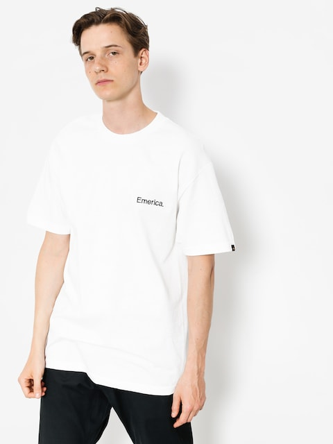 Emerica T-shirt Pure Embroidery (white)