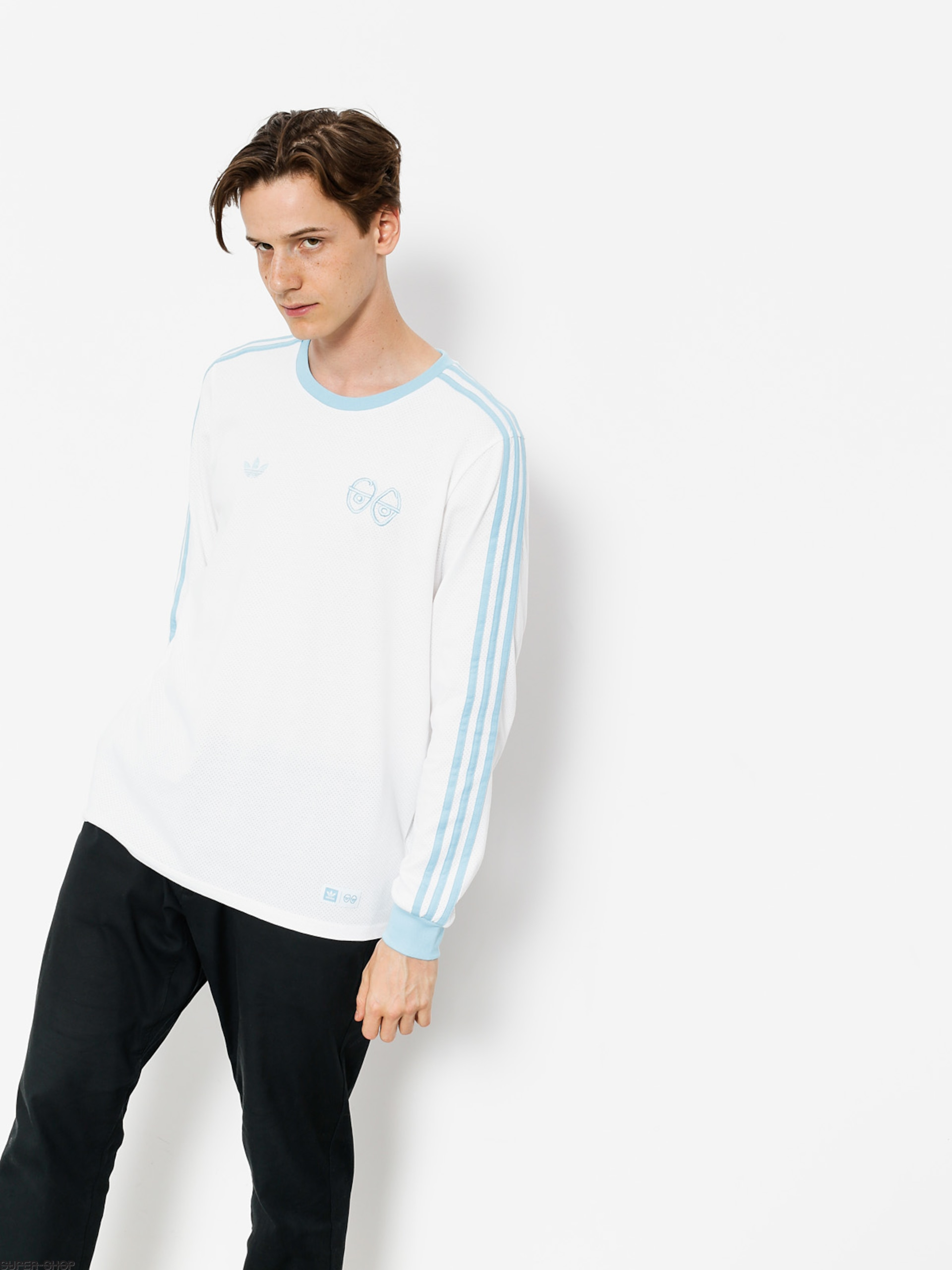 adidas Longsleeve Krooked (white/clear blue)