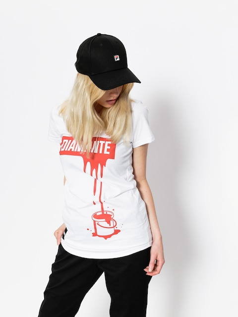 Diamante Wear T-Shirt Paint Red Wmn