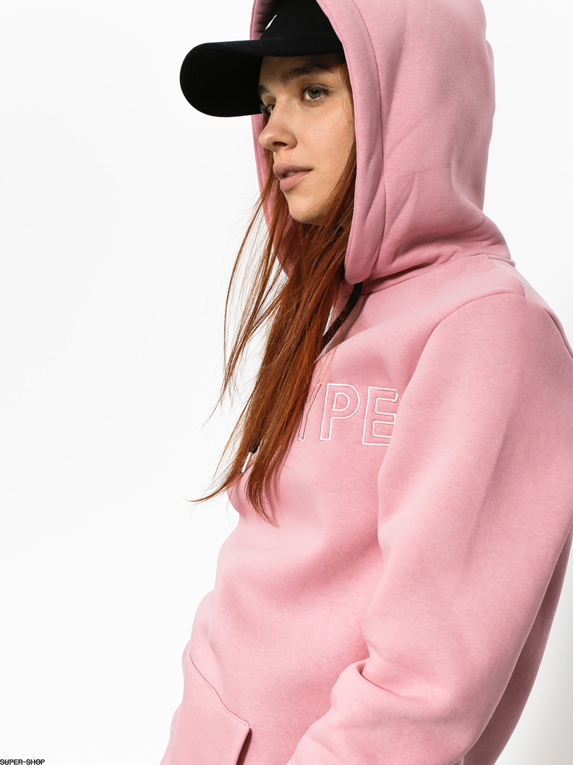 Hype Hoodie Embroidered HD Wmn (pinkpink)