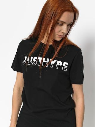 Hype T-shirt Justhype Half Wmn (black/white)