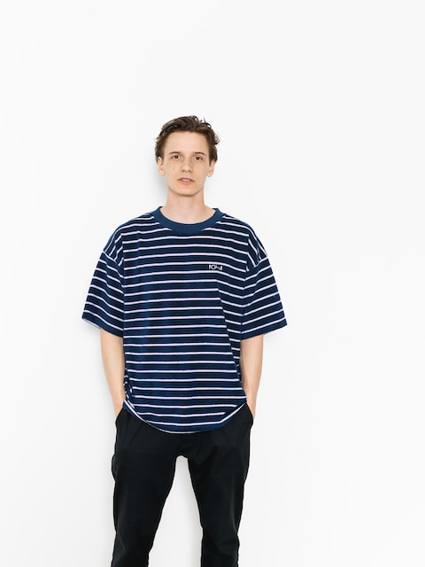 Polar Skate T-shirt Striped Terry Surf (navy/violet)