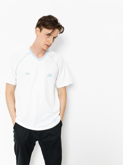 adidas T-shirt Krooked Jrsy (white/clear blue)
