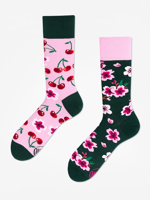 Many Mornings Socks Cherry Blossom (pink/green)