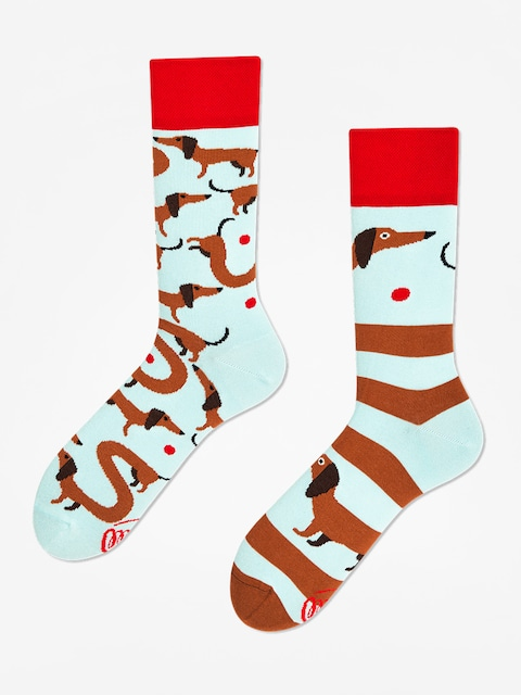 Many Mornings Socken Sausage Dog (light blue/brown)