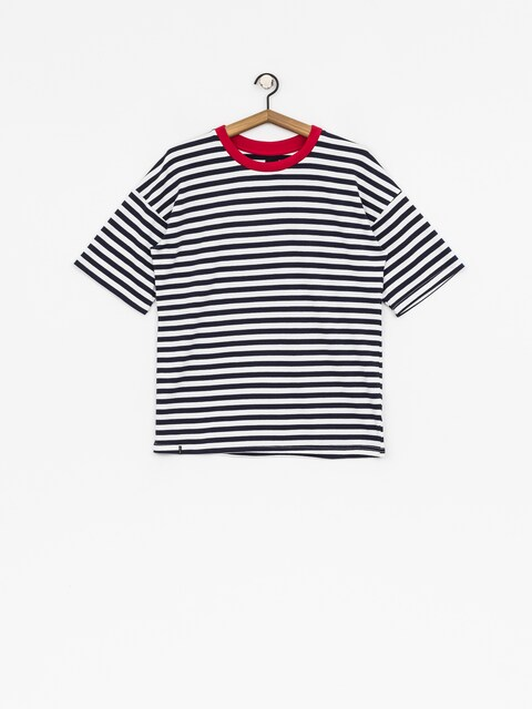 The Hive T-Shirt Oversized Stripes Wmn (red/navy/white)