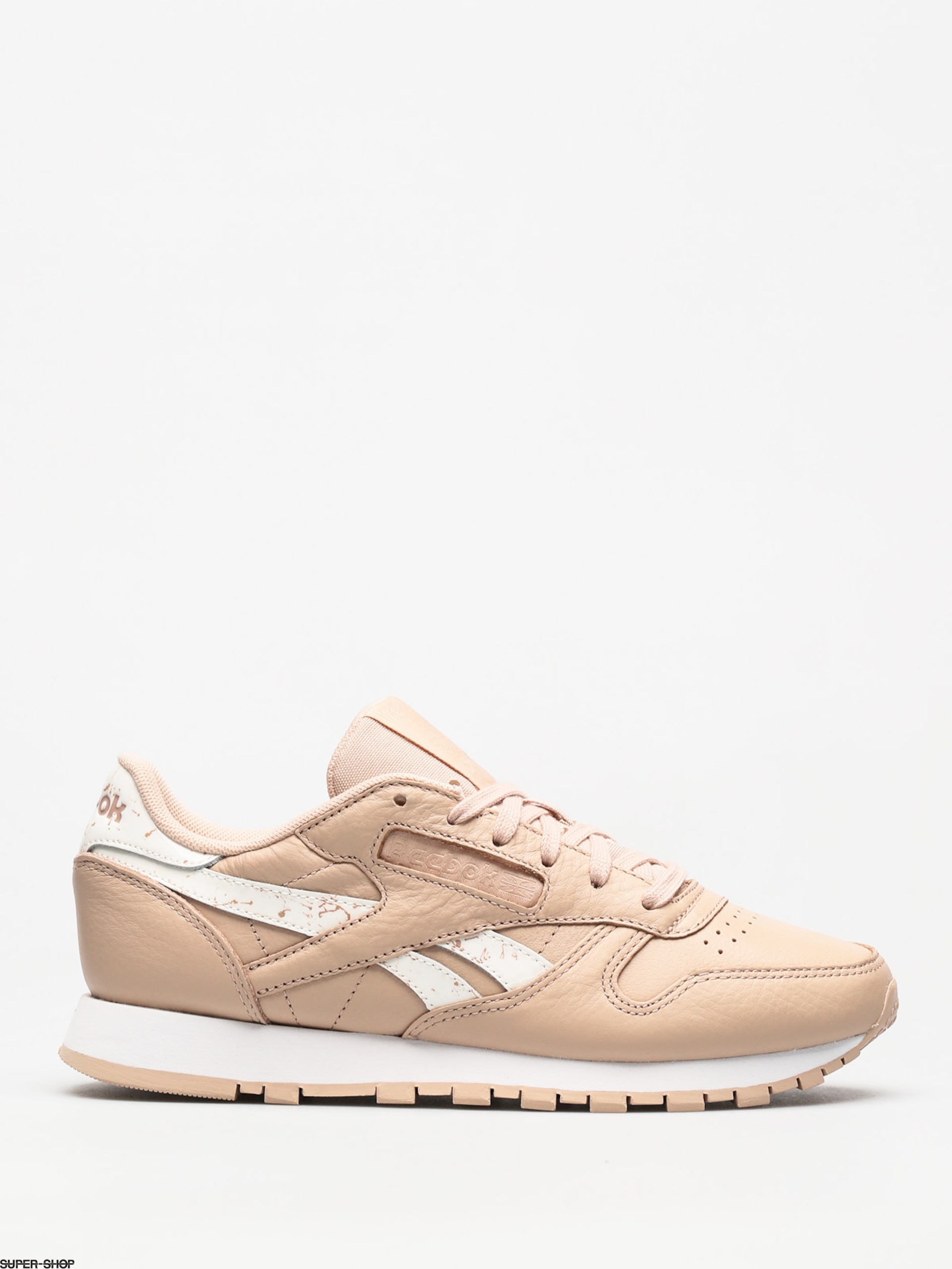 Reebok Shoes Classic Leather Wmn (sidestripes bare beige/white)