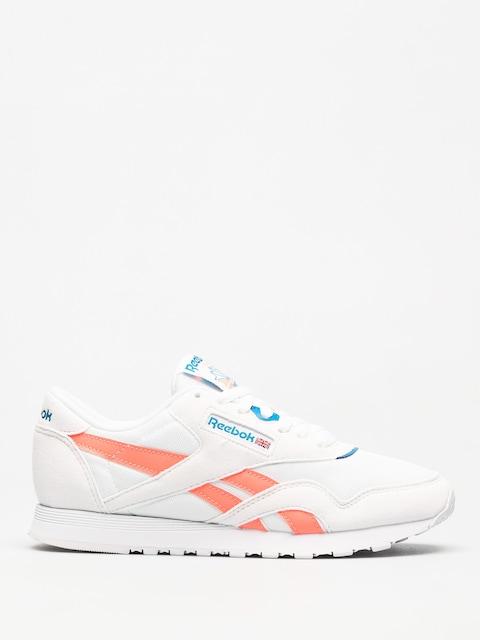 Reebok Schuhe Cl Nylon M Txt Wmn (retro white/digital pink/instince blue)