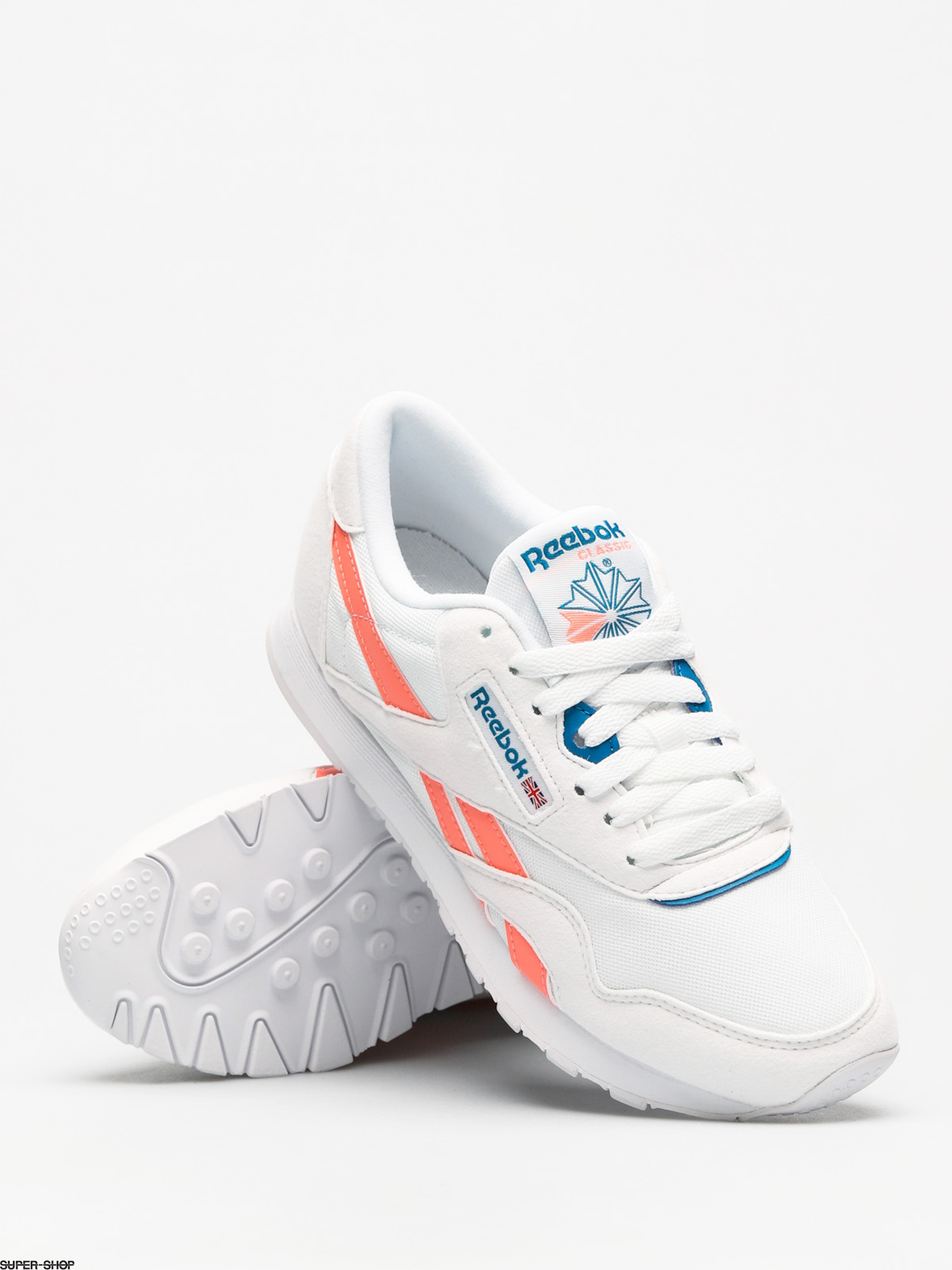 485ad0a5f709 Reebok Shoes Cl Nylon M Txt Wmn (retro white digital pink instince blue)