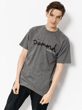 Diamond Supply Co. T-shirt Og Script (heather grey)