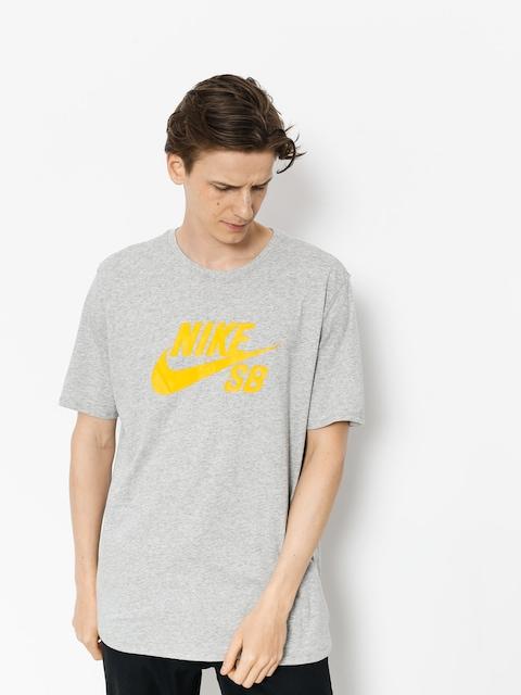 Nike SB T-Shirt Sb Logo (dk grey heather/laser orange)