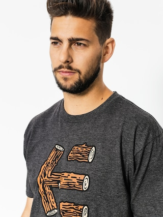Etnies T-shirt Wood Stack (charcoal/heather)