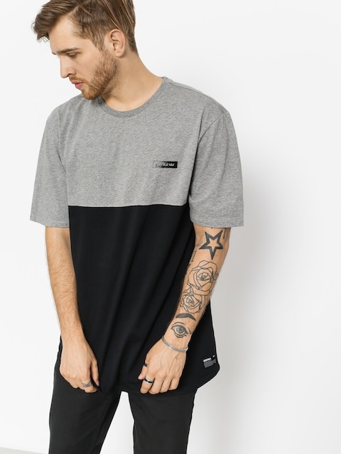 Supra T-shirt Block Crew (heather grey/black)