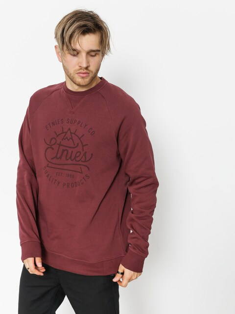 Etnies Sweatshirt Creep Crew (burgundy)