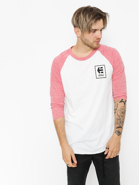 Etnies T-Shirt Stack Box Raglan (red/white)