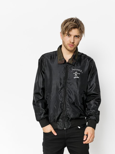 Thrasher Jacke Gonz Reversible Coach (black/camo)