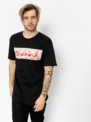 Diamond Supply Co. T-shirt Flamingo Box Logo (black)