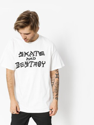 Thrasher T-shirt Skate And Destroy (white)
