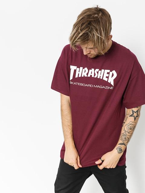 Thrasher T-shirt Skate Mag (maroon)