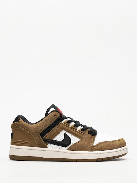 Nike SB Shoes Air Force II Low (lichen brown/black white phantom)