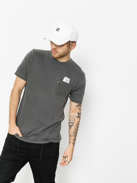 RipNDip T-Shirt Lord Nermal Pocket Overdyed (black)