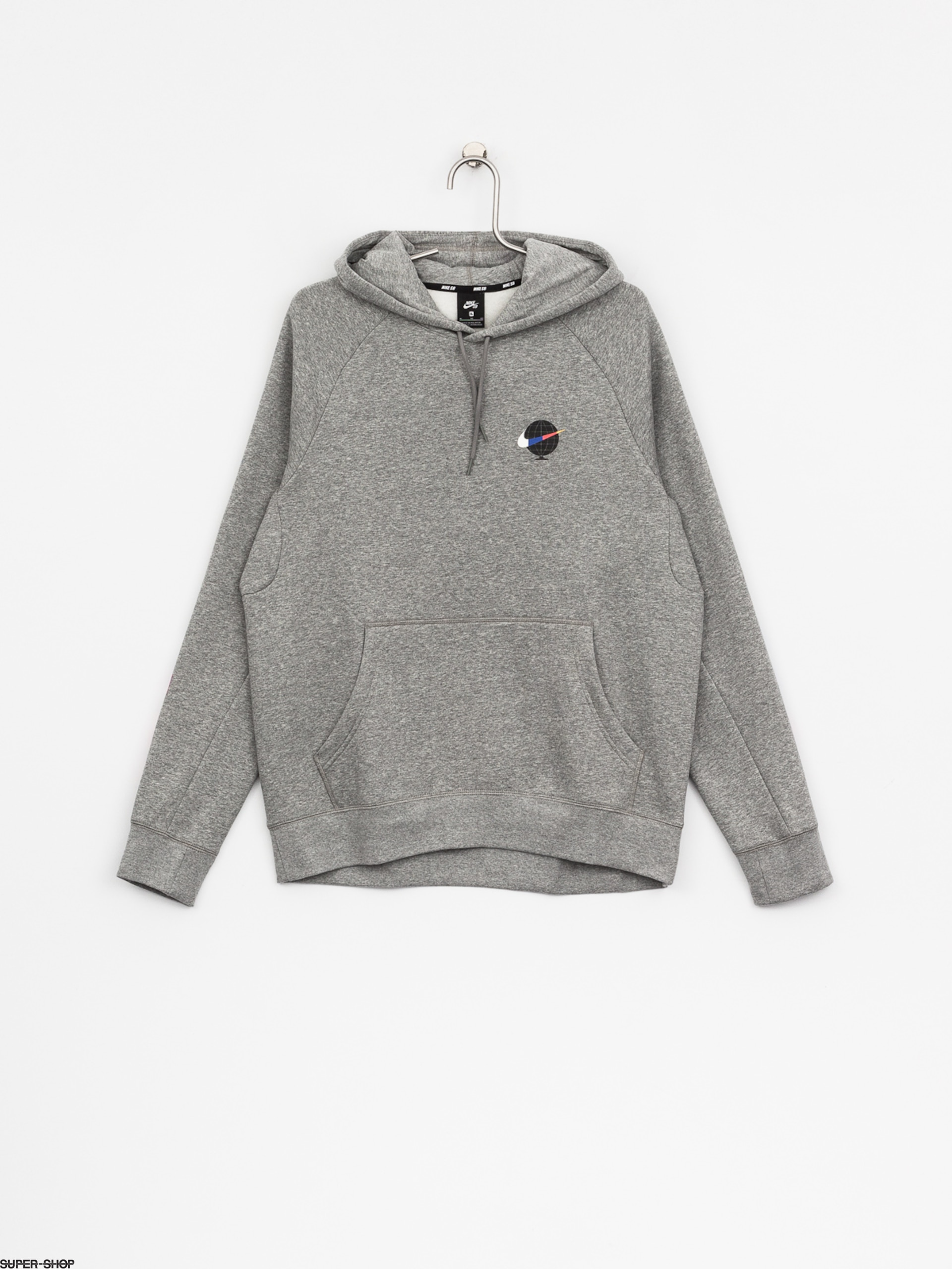 Nike SB Hoody Sb Icon Gfx HD (dk grey heather/white)
