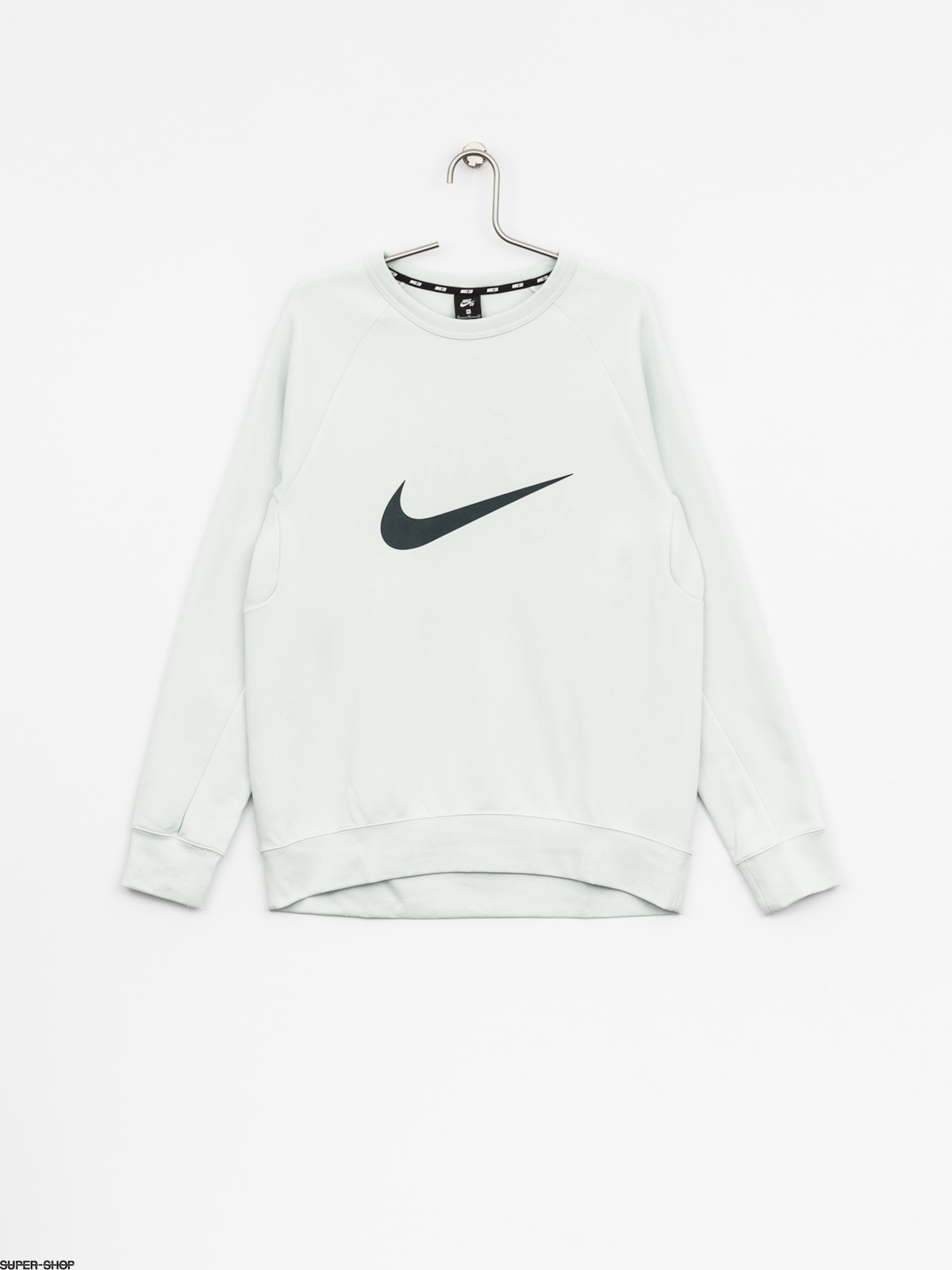 Nike SB Sweatshirt Sb Top Icon Crw Gfx Hrtg (barely grey/deep jungle)