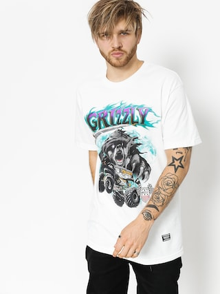 Grizzly Griptape T-Shirt Cave Digger (white)