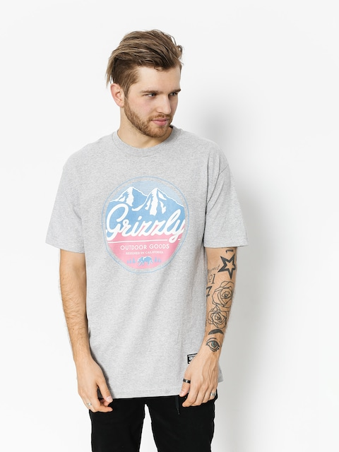 Grizzly Griptape T-shirt Frosted Peaks (heather grey)