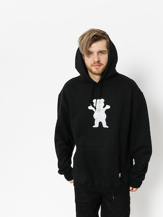Grizzly Griptape Hoodie Woodland Og Bear HD (black)