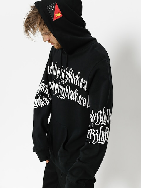Grizzly Griptape Hoody Blvck Scale Grizzly Repeat HD (black)