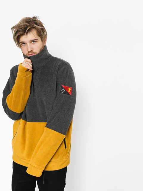 Grizzly Griptape Sweatshirt Polar Blvck Scale Grizzly Half Zip (black)