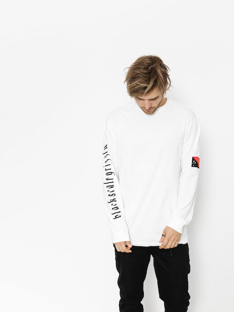 Grizzly Griptape Longsleeve Blvck Scale Grizzly Flag (white)