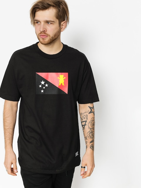 Grizzly Griptape T-shirt Blvck Scale Grizzly Flag (black)