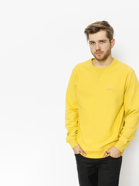 Stussy Sweatshirt Stock Terry (lemon)
