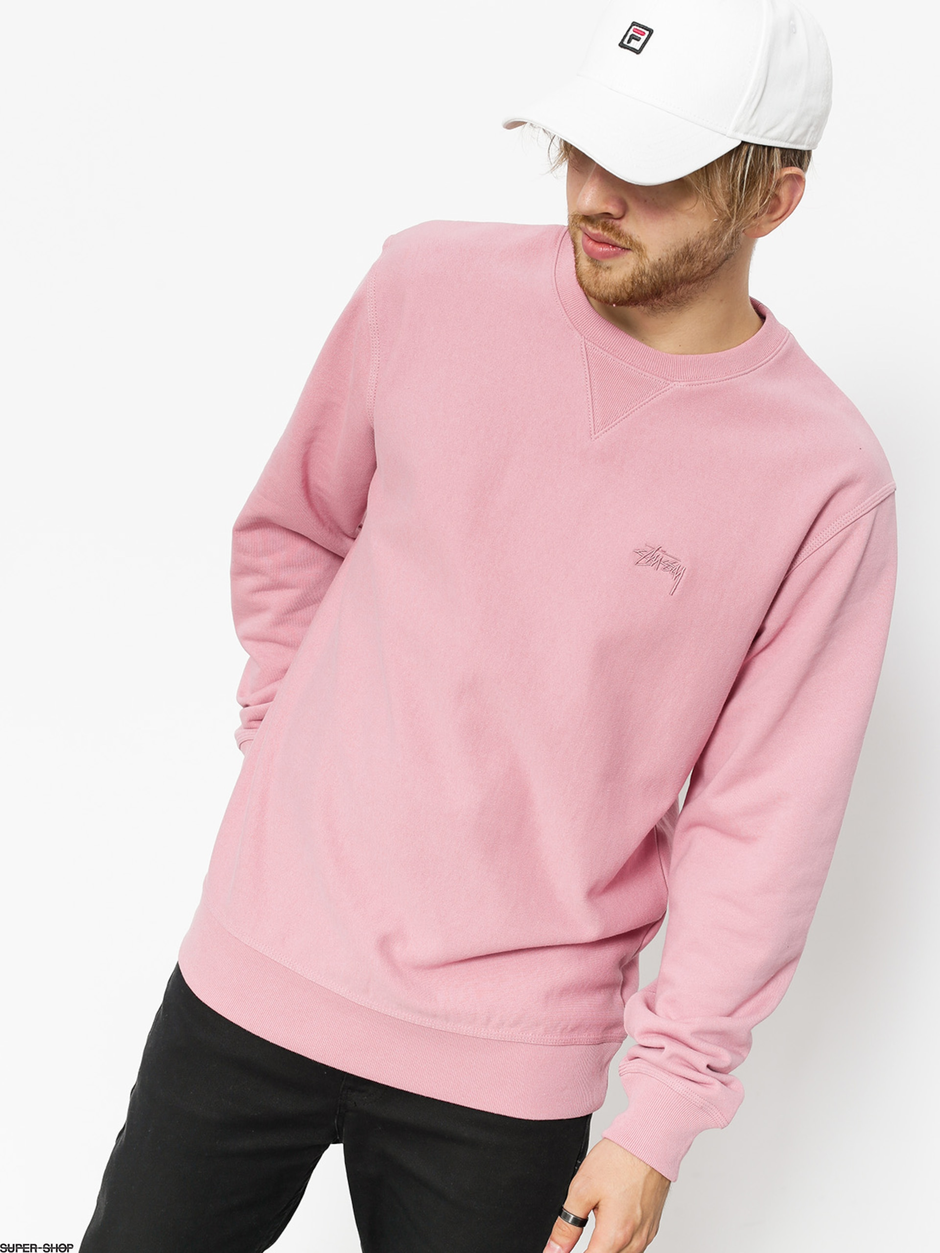 Stussy Sweatshirt Stock Terry (pink)