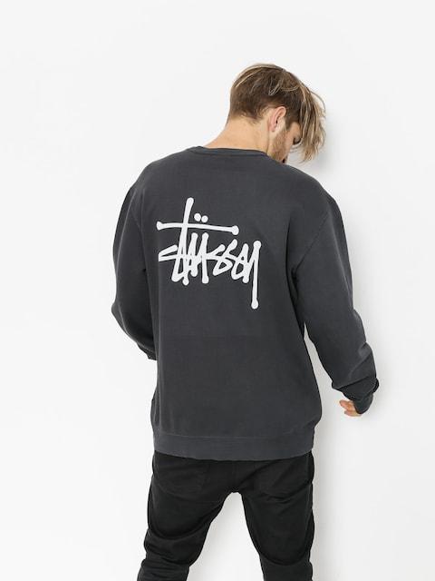 Stussy Sweatshirt Basic Pig Dyed (black)