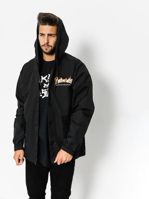 Thrasher Jacket Flame Mag Coach (black)
